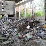Пять грузовиков львовского мусора выбросили в ста метрах от многоквартирных домов