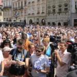 У Садового на вчерашнем вече насчитали 5 тысяч человек, в полиции €? в 10 раз меньше