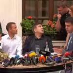 Саакашвили в присутствии журналистов и адвокатов обвиняет пограничников в не верном представлении протокола