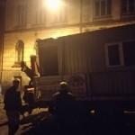 Во Львове на территории скандального строительства «бомбоубежище» посреди ночи остановили строительную технику