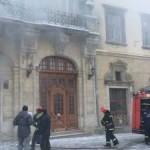На площади Рынок во Львове произошел пожар. Фото