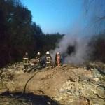 На несанкционированной свалке в Кривчицах возник пожар (фото)