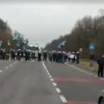 Шахтеры заблокировали дорогу на Раву-Русскую (видео)