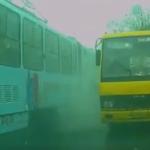 Во Львове на ходу задымился трамвай. Видео