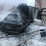 В Яворове мужчина сгорел в автомобиле
