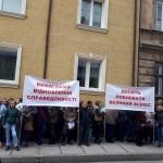 Во Львове протестуют владельцы алкогольных киосков