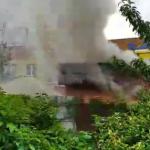 На Сыхове горит кафе. Видео