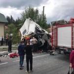 На Львовщине в страшной аварии погиб водитель грузовика (фото)
