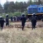 Во время разгона людей на Львовщине пострадали восемь полицейских